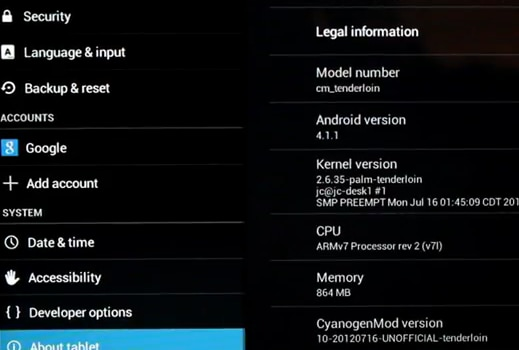 cm 10 touchpad