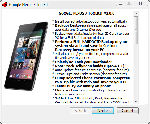 nexus 7 toolkit
