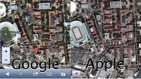 Google v Apple maps