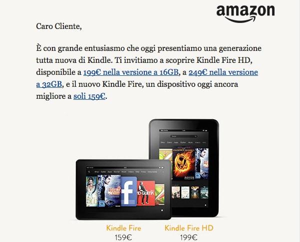 Kindle Fire su Amazon.it