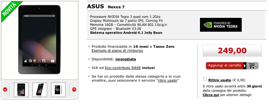ASUS Nexus 7 Mediaworld