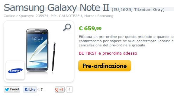 Note II su Expansys
