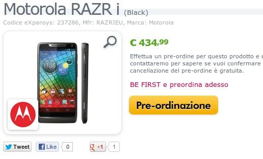 Motorola RAZR i expansys