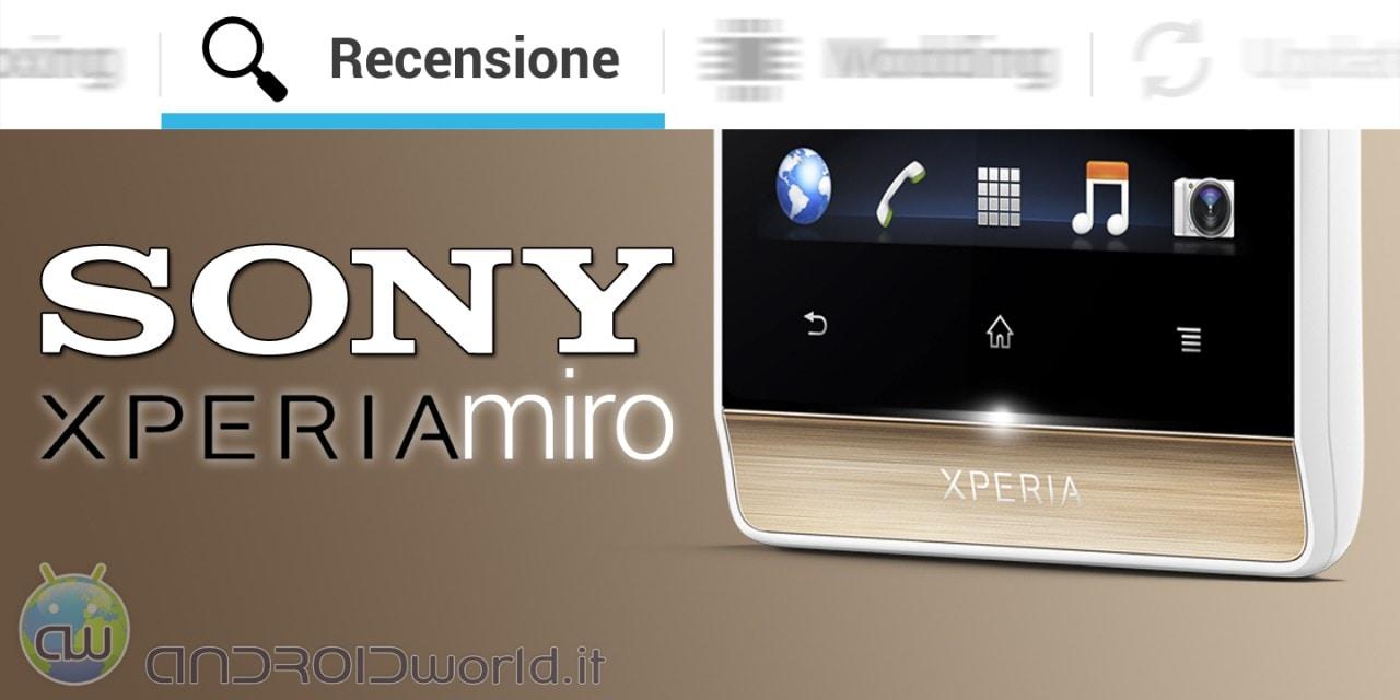 Sony Xperia Miro recensione