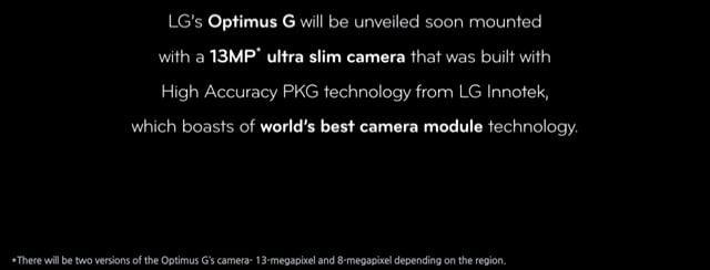 optimus g fotocamera