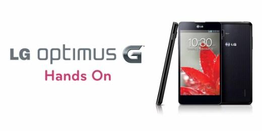 optimus g hands-on