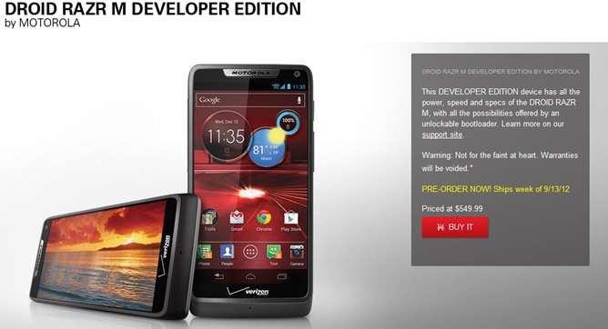 razr developer edition
