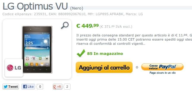 LG Optimus Vu: expansys