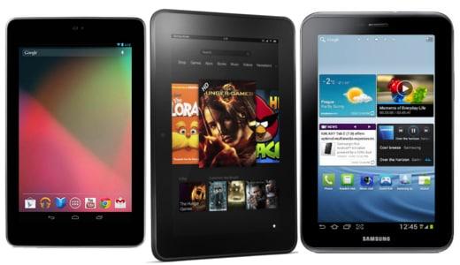 ASUS Nexus 7 vs Amazon Kindle Fire vs Samsung Galaxy Tab 2