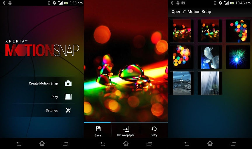 xperia motion snap