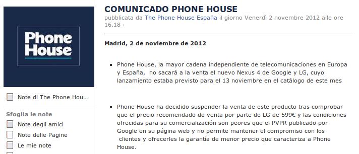 Comunicato The Phone House