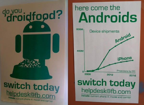 Facebook invita a passare ad Android