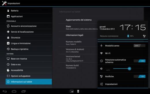 Aggiornamento ICS Tablet S