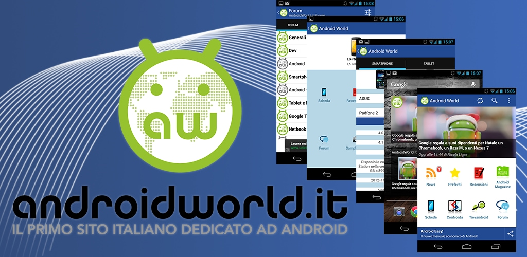 AndroidWorld.it App 4.1, disponibile nel Play Store