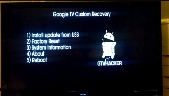 google tv custom recovery