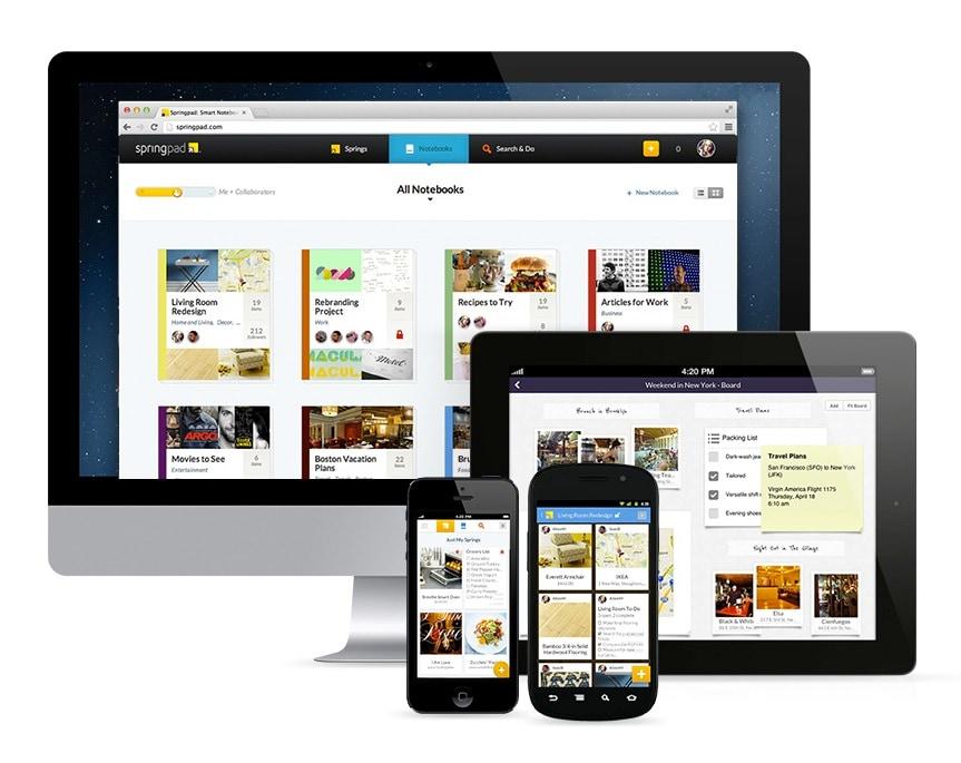 Springpad 4.0: un'esperienza completamente rinnovata, da web e da mobile
