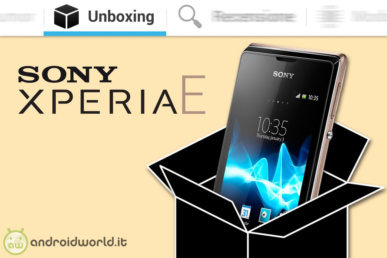 SONY_EXPERIA_E_Unboxing