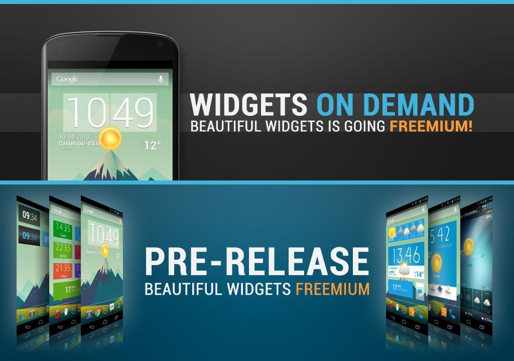 beautiful widgets freemium