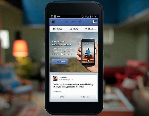 Nuovo video pubblicitario di Facebook Home