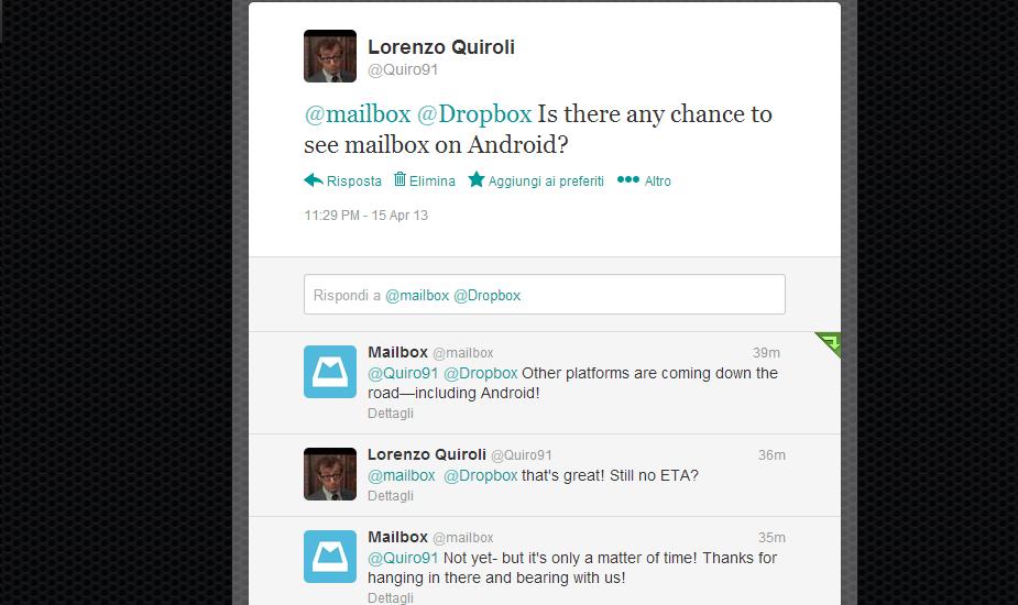 Mailbox arriverà presto anche su Android
