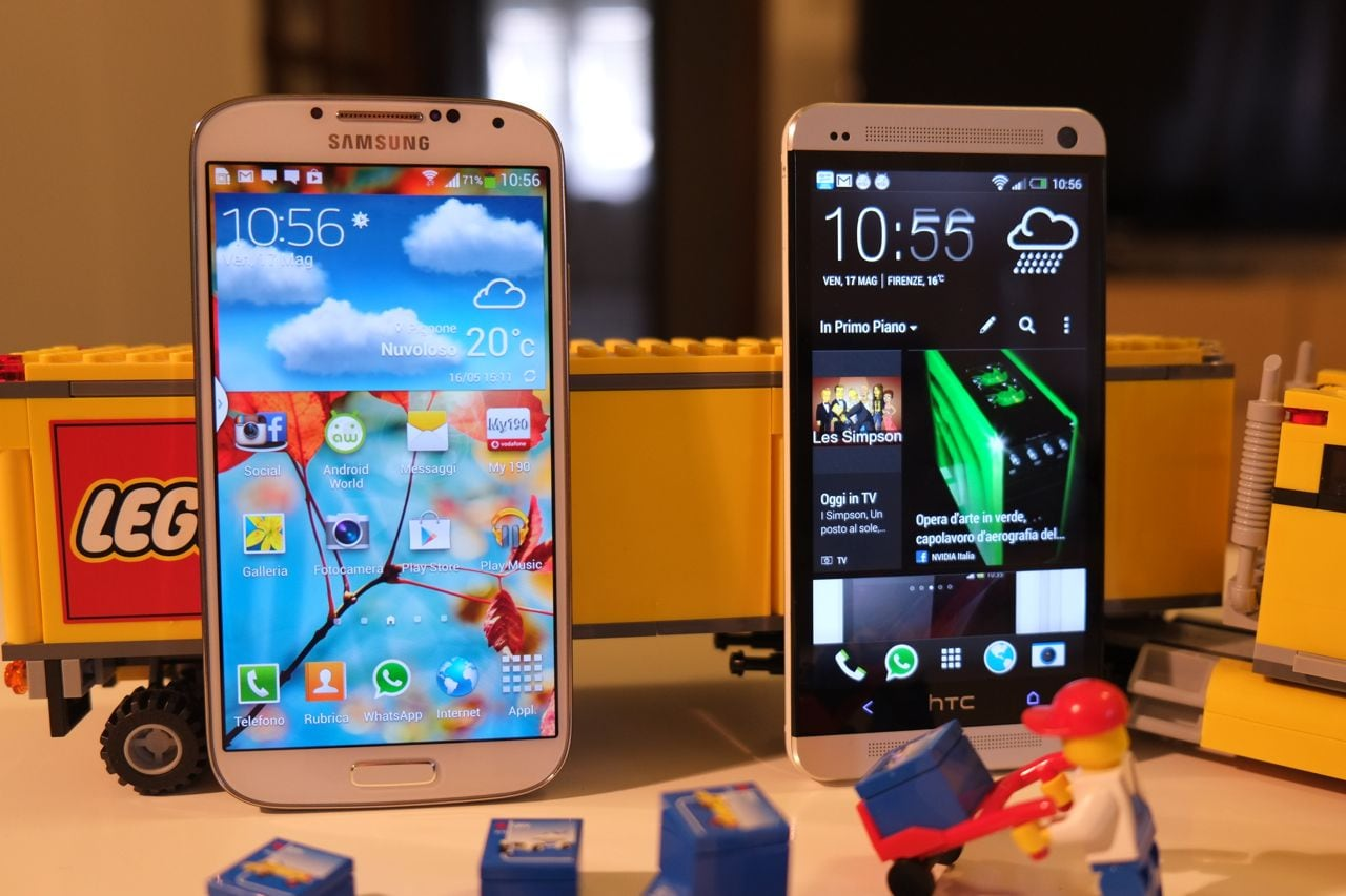 Samsung Galaxy S4 vs HTC One: top di gamma a confronto