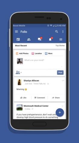 Folio for Facebook 1