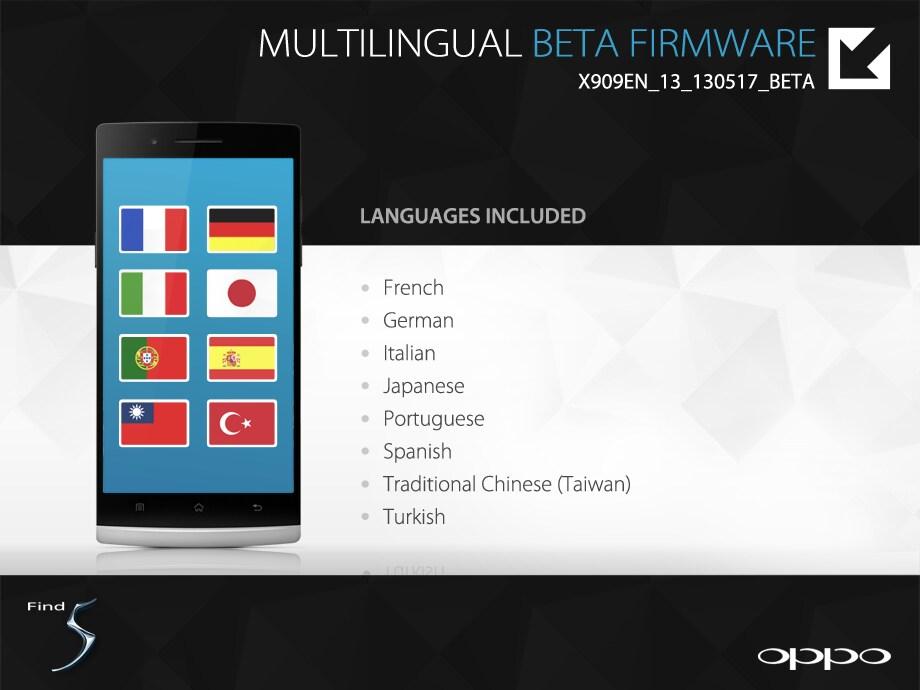 Oppo 5 Beta Firmware