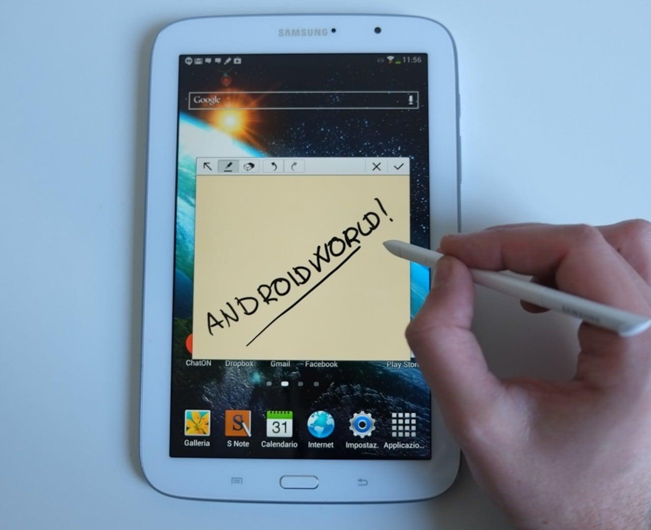 Samsung Galaxy Note 8 si aggiorna ad Android 4.4.2 KitKat in Italia