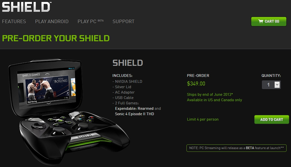 NVIDIA Shield già disponibile al pre-ordine da USA e Canada per 349$