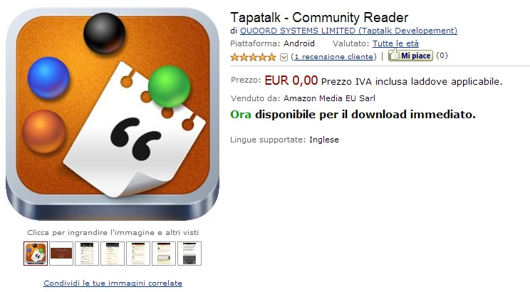 Tapatalk – Community Reader gratis su Amazon App-Shop