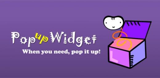pooup widget