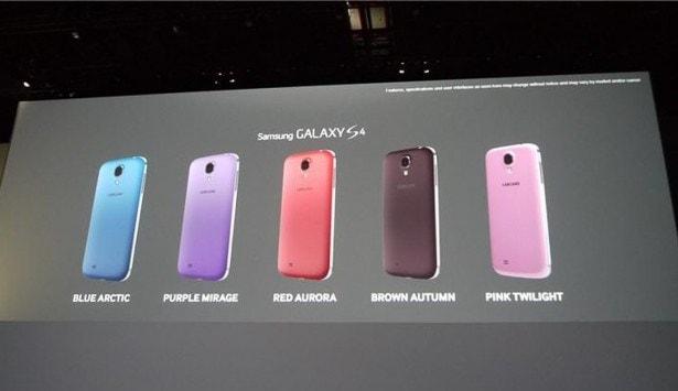 Nuovi Colori Samsung Galaxy S4