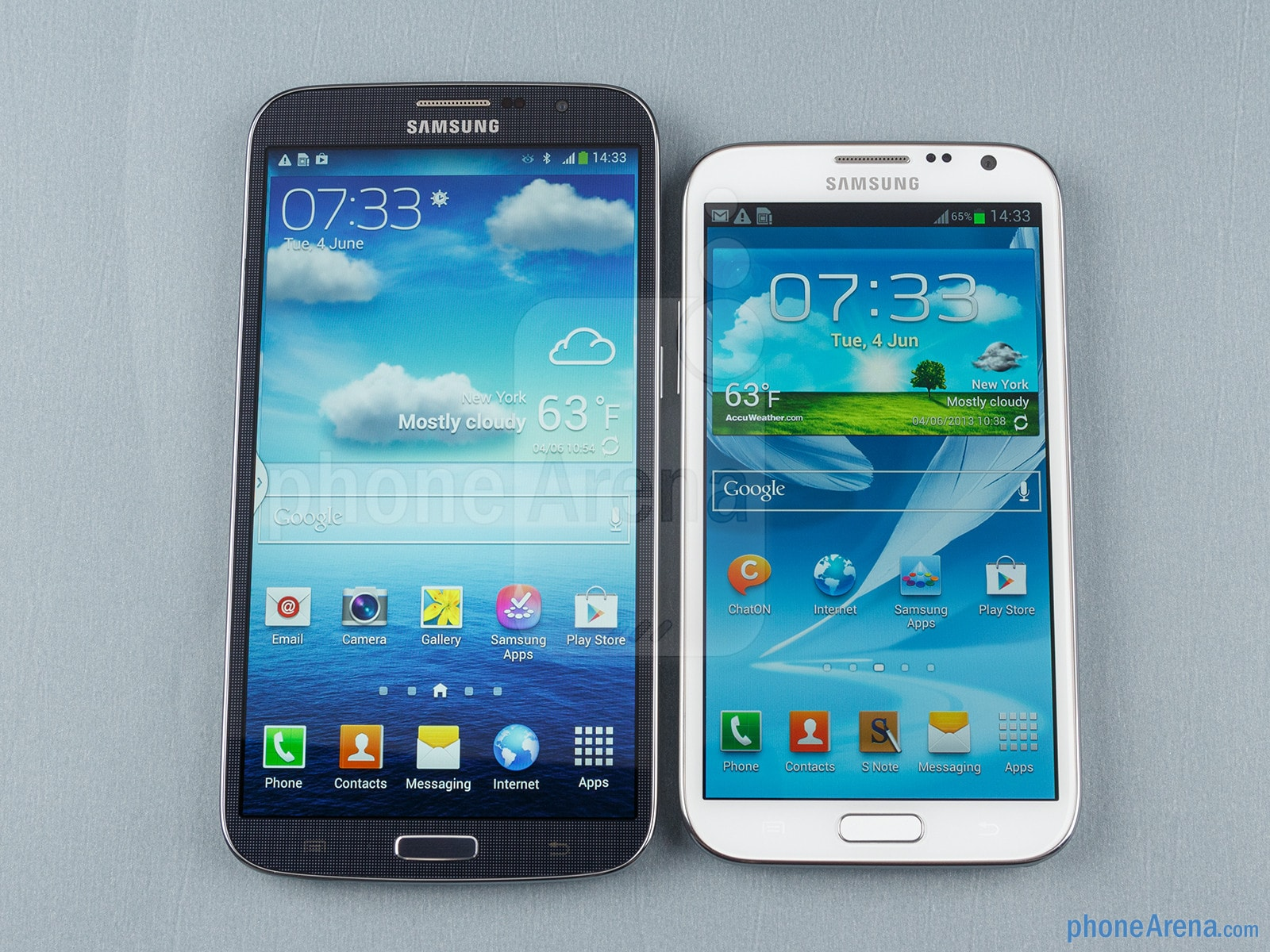 Samsung Galaxy Mega vs Note 2