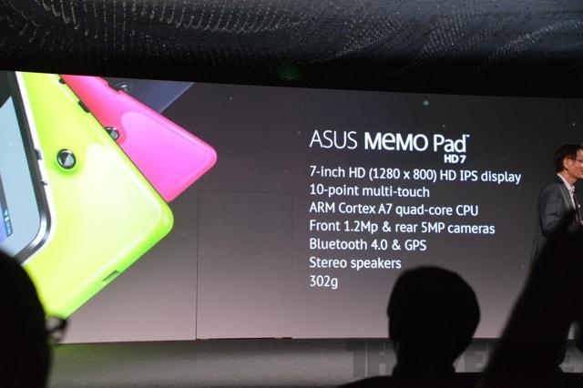 "Galaxy Tab 3 7"", ASUS FonePad Titanium 7"" a ASUS MeMo Pad 7"""