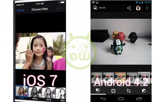 iOS 7 vs Android 4.2: Fotocamera