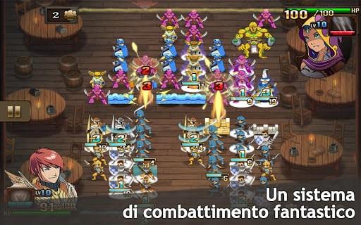 Il sistema di combattimento è perfetto per i dispositivi touchscreen.