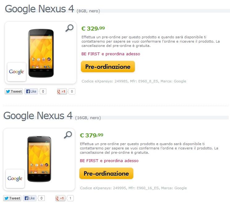 nexus 4 expansys