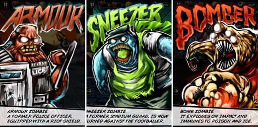 Questi sono solo alcuni dei tanti tipi di zombi presenti nel gioco.
