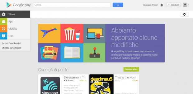 Interfaccia Play Store 1