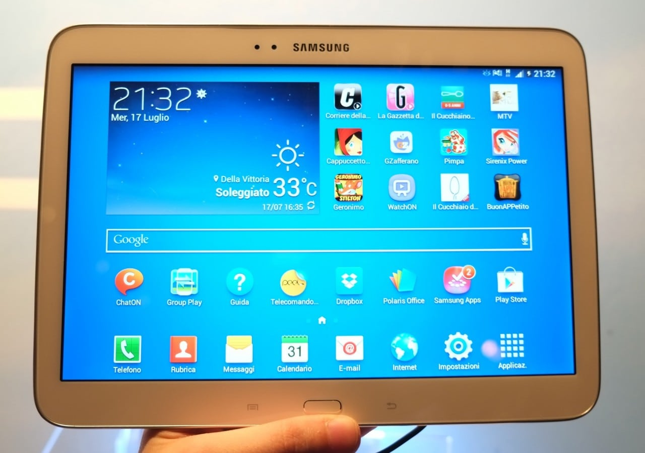 Samsung Galaxy Tab 3 10.1: inizia l'aggiornamento a KitKat in Italia