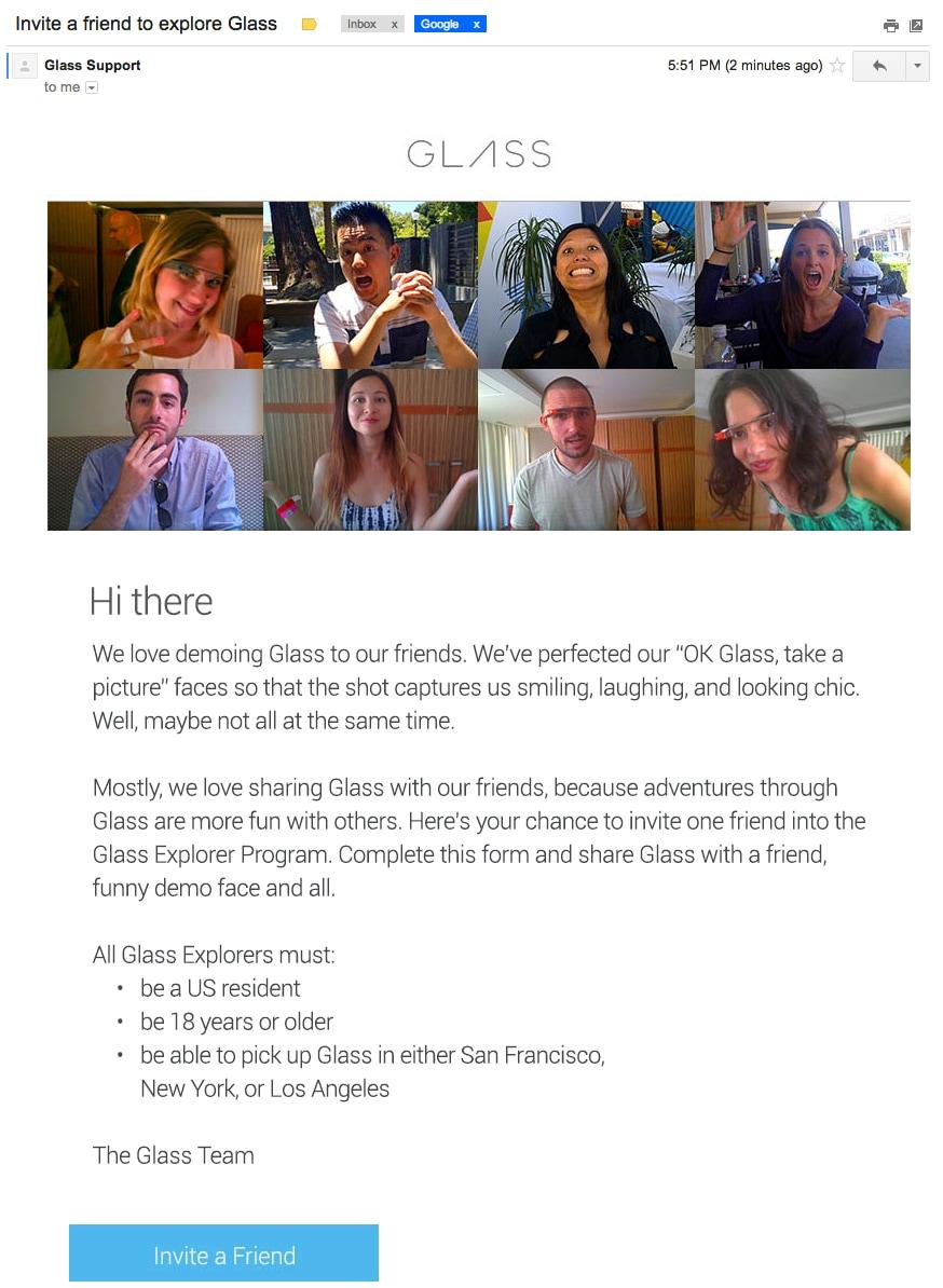 glass invite