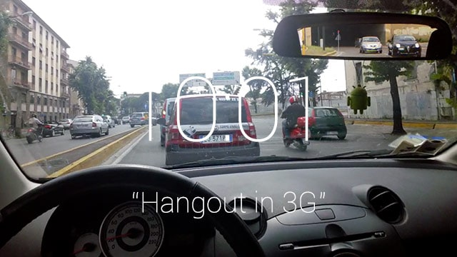 Glass - Hangout in 3G