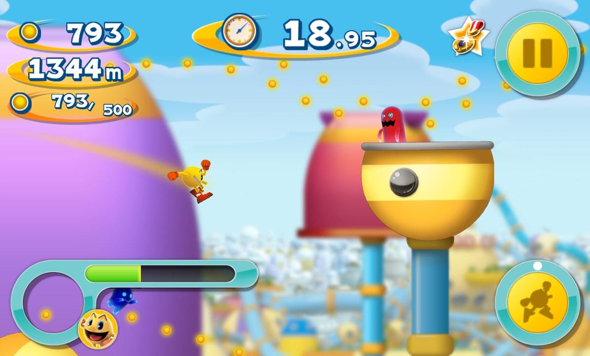 Nessun problema per quanto riguarda il pericolo dei fantasmi, poiché in Pac-Man Dash! saranno perennemente spaventati.