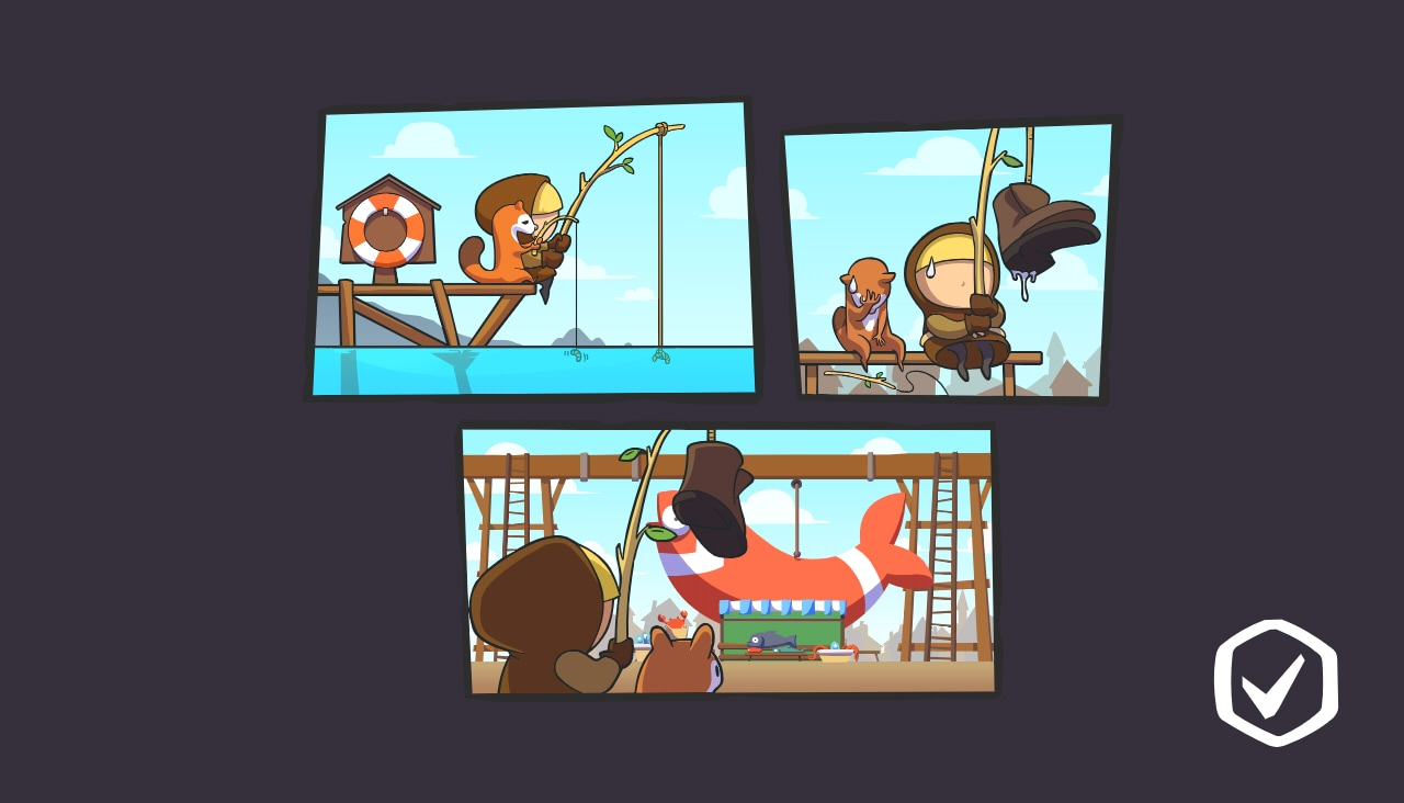 Prima di ogni livello ci saranno delle simpatiche vignette in pieno stile Angry Birds.