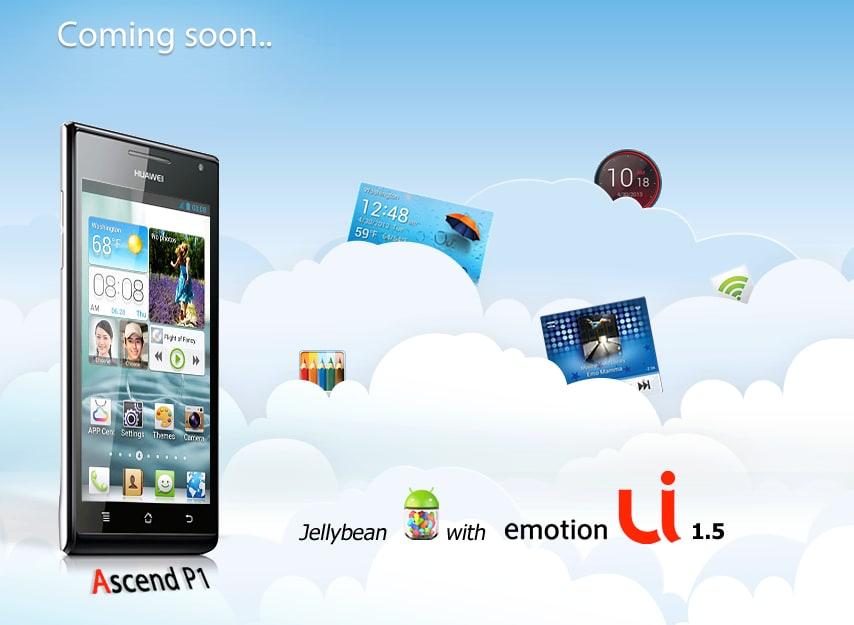 Jelly Bean e Emotion UI 1.5 per Ascend P1