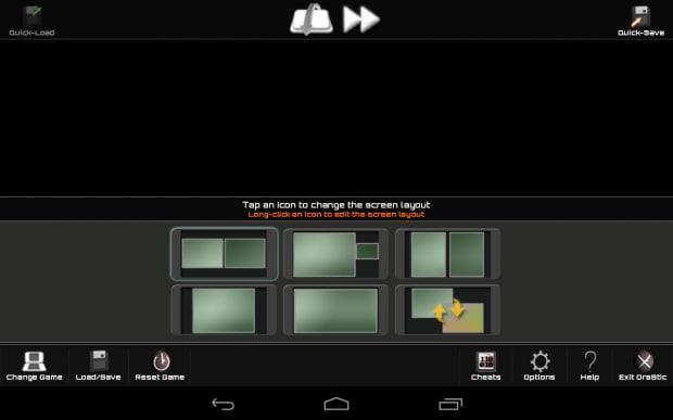 Questo menù è attivabile in-game premendo l'apposito pulsante virtuale posto nella parte bassa dello schermo.