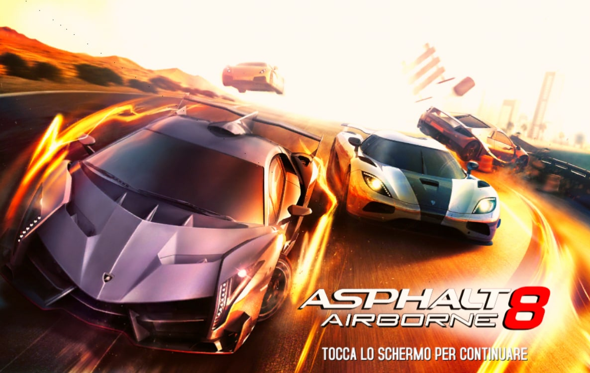 asphalt 8 start screen review