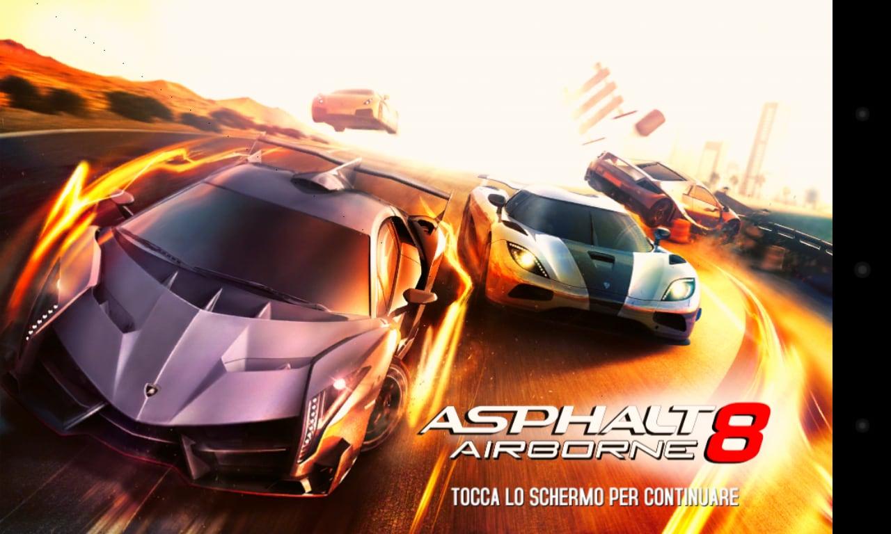 asphalt 8 start screen
