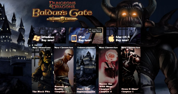 baldur's gate header allargato