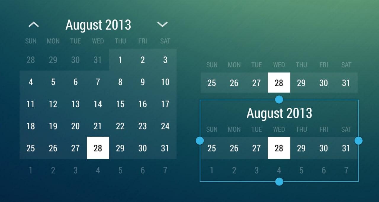 Roman Nurik pubblica i sorgenti di Month Calendar Widget (download apk)